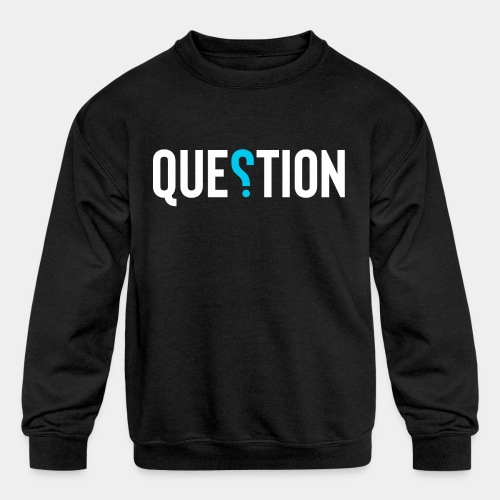 question answer - Kids' Crewneck Sweatshirt