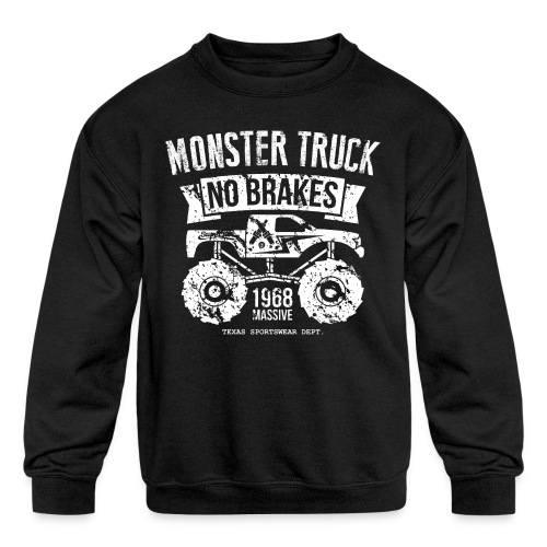monstertruck monster truck offroad off road - Kids' Crewneck Sweatshirt