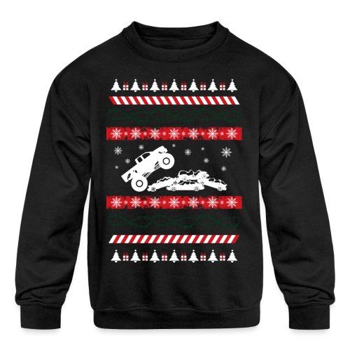 Ugly Christmas Monster - Kids' Crewneck Sweatshirt