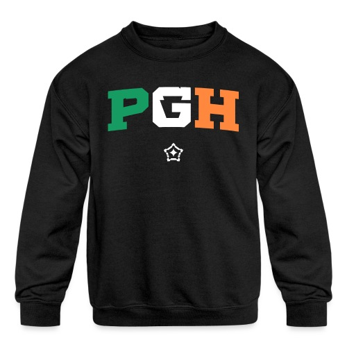 Block PGH - Irish Flag - Kids' Crewneck Sweatshirt