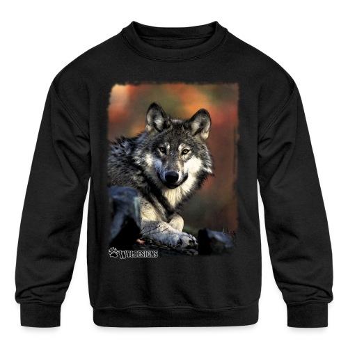 Wolf s Gaze - Kids' Crewneck Sweatshirt
