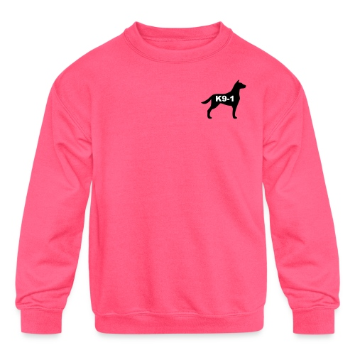 k9-1 Logo Large - Kids' Crewneck Sweatshirt