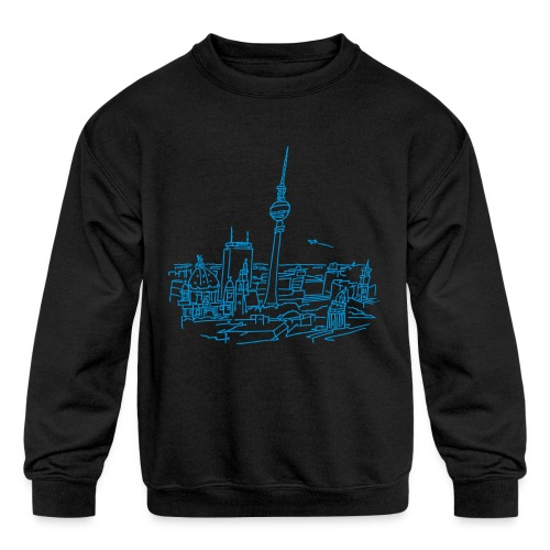 Panorama of Berlin - Kids' Crewneck Sweatshirt