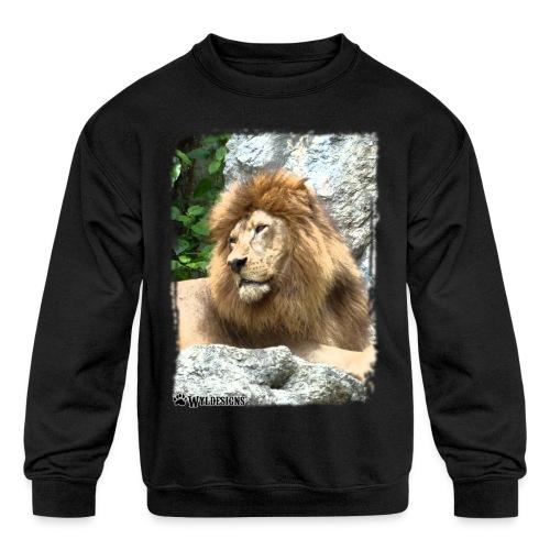 Lion On Rocks - Kids' Crewneck Sweatshirt