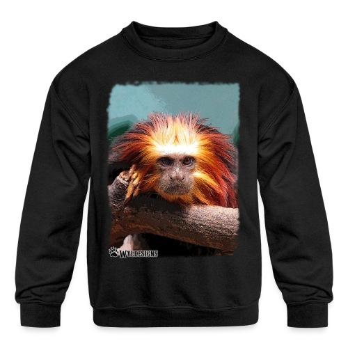 Monkey On Branch - Kids' Crewneck Sweatshirt