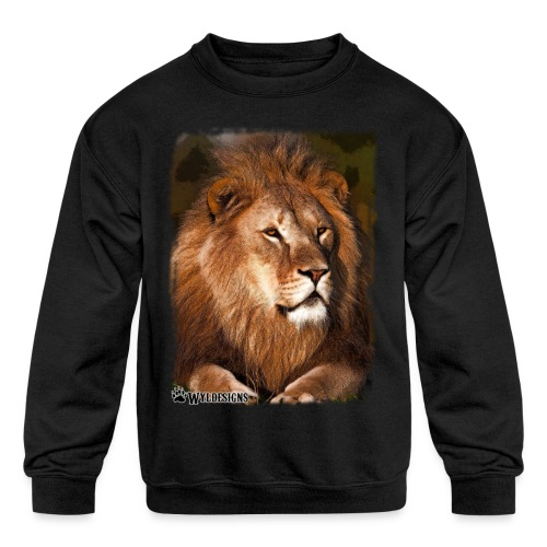 Regal Lion - Kids' Crewneck Sweatshirt