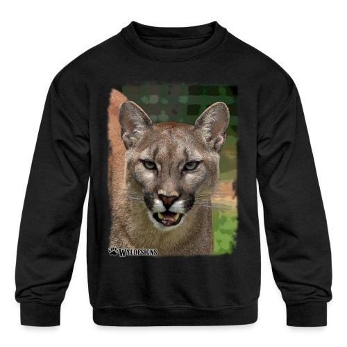 Cougar Stare - Kids' Crewneck Sweatshirt
