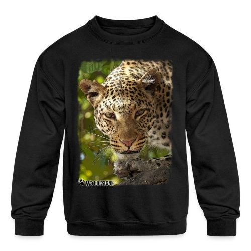 Leopard Stare - Kids' Crewneck Sweatshirt