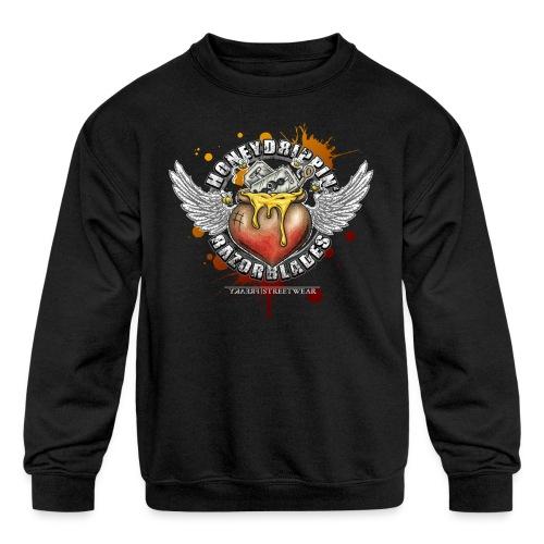 Honeydripping razorblades - Kids' Crewneck Sweatshirt