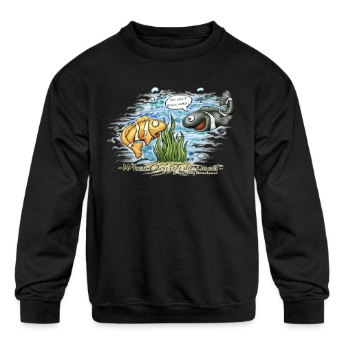 when clownfishes meet - Kids' Crewneck Sweatshirt