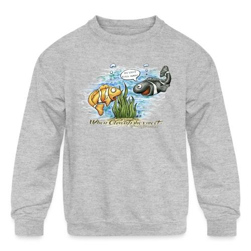 when clownfishes meet - Kids' Crewneck Sweatshirt