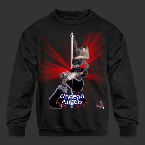 Undead Angels: Undead Dancer Onyx Spotlight - Kids' Crewneck Sweatshirt