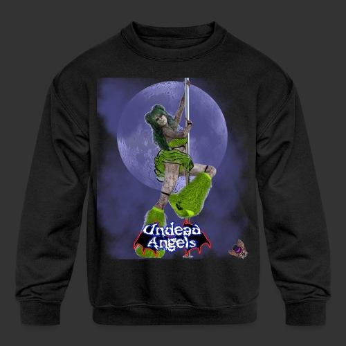 Undead Angels: Undead Dancer Emerald Full Moon - Kids' Crewneck Sweatshirt