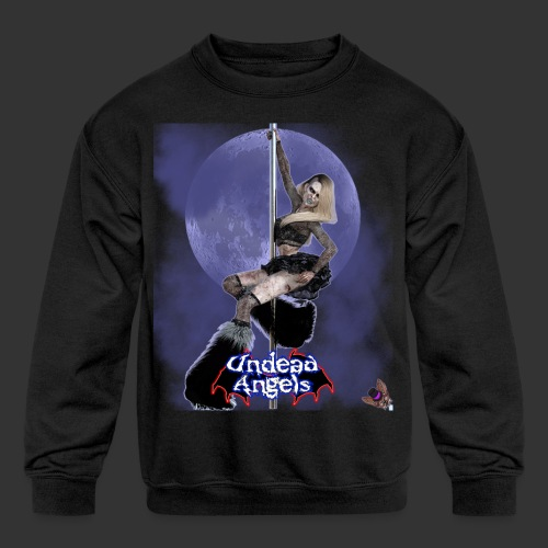 Undead Angels: Undead Dancer Onyx Full Moon - Kids' Crewneck Sweatshirt