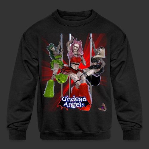 Undead Angels: Pole Dance Trio Spotlight - Kids' Crewneck Sweatshirt