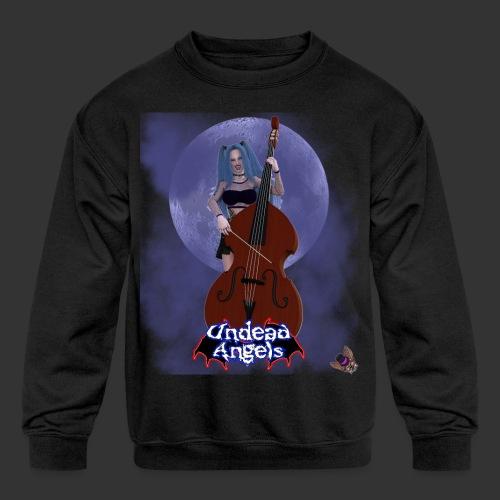 Undead Angels: Vampire Bassist Ashley Full Moon - Kids' Crewneck Sweatshirt