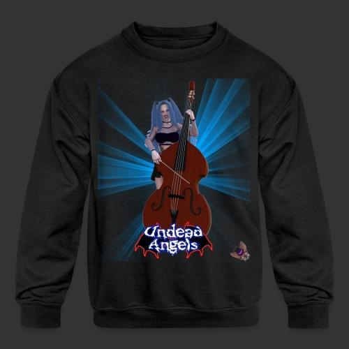 Undead Angels: Vampire Bassist Ashley Spotlight - Kids' Crewneck Sweatshirt