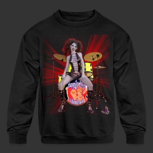 Happily Ever Undead: Bella Bloodlust Drummer - Kids' Crewneck Sweatshirt