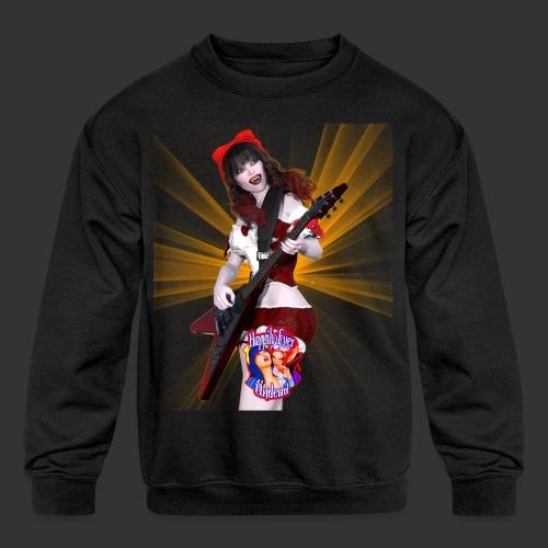 Happily Ever Undead: Crimson Snow Guitarist - Kids' Crewneck Sweatshirt