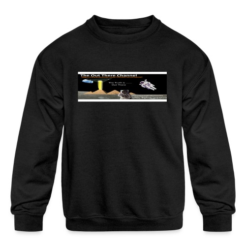 UFO Pyramids v2 with Crew Back Logo - Kids' Crewneck Sweatshirt