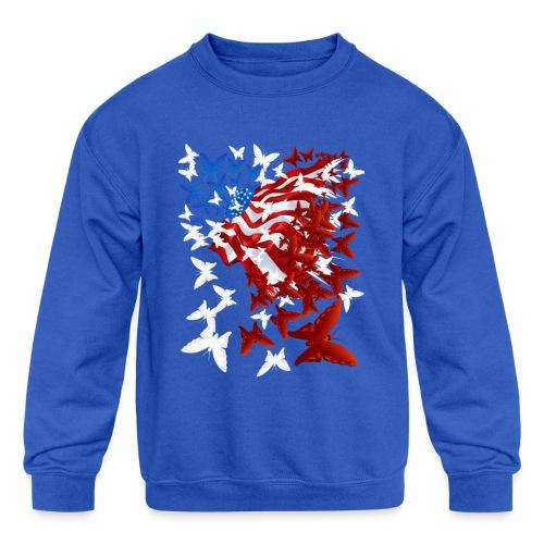 The Butterfly Flag - Kids' Crewneck Sweatshirt