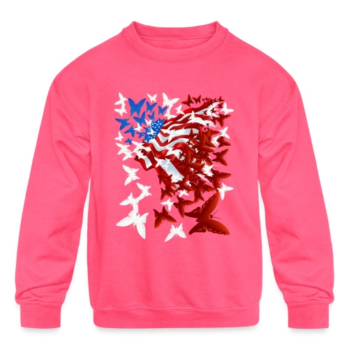 The Butterfly Flag - Kids' Crewneck Sweatshirt