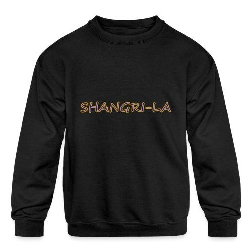 Shangri La gold blue - Kids' Crewneck Sweatshirt