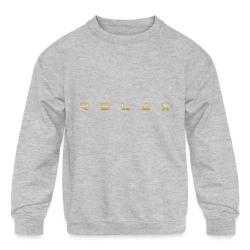 Relax gold - Kids' Crewneck Sweatshirt