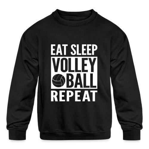 Eat Sleep Volleyball Repeat - Kids' Crewneck Sweatshirt