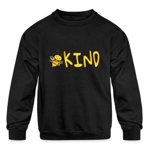 Be Kind - Adorable bumble bee kind design - Kids' Crewneck Sweatshirt