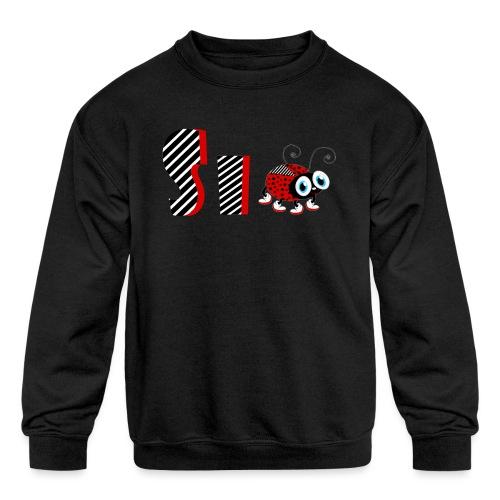 6nd Year Family Ladybug T-Shirts Gifts Daughter - Kids' Crewneck Sweatshirt
