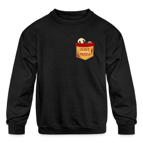 Just feed me pizza - Kids' Crewneck Sweatshirt