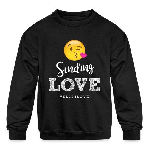 Sending Love - Kids' Crewneck Sweatshirt