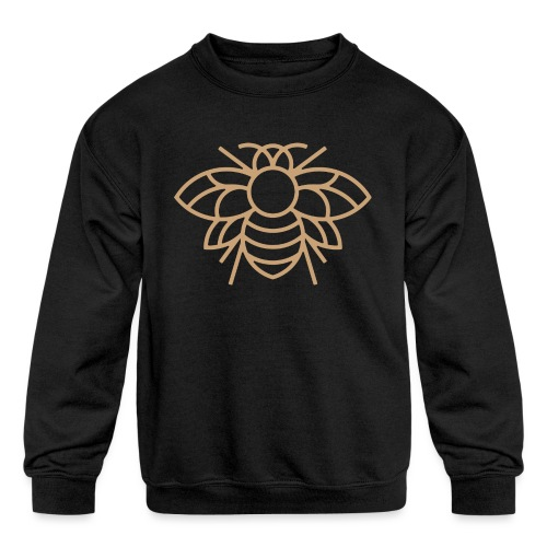 (bee_gold) - Kids' Crewneck Sweatshirt