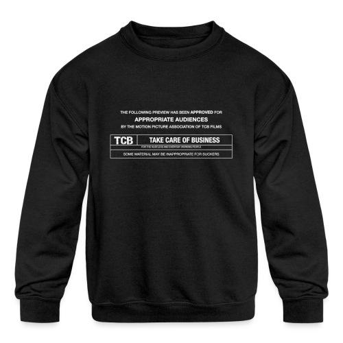 TCB Films Disclamer - Kids' Crewneck Sweatshirt
