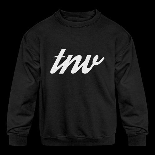TNV WHITE DESIGN CLSSC png - Kids' Crewneck Sweatshirt