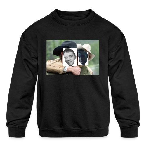 Darien and Curtis Camping Buddies - Kids' Crewneck Sweatshirt