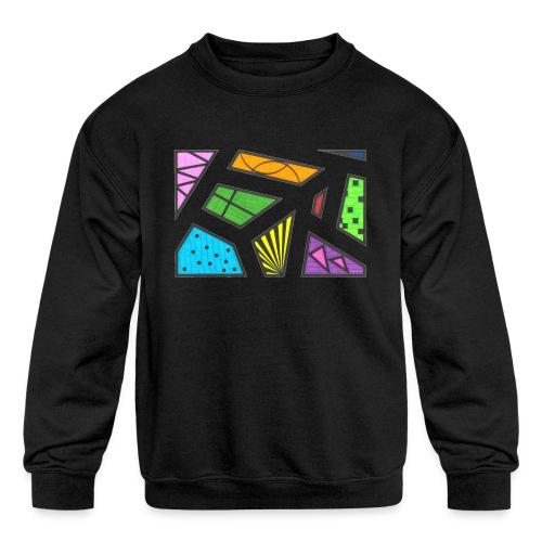 geometric artwork 1 - Kids' Crewneck Sweatshirt