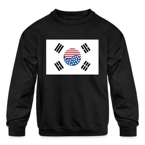Korean American Flag - Kids' Crewneck Sweatshirt