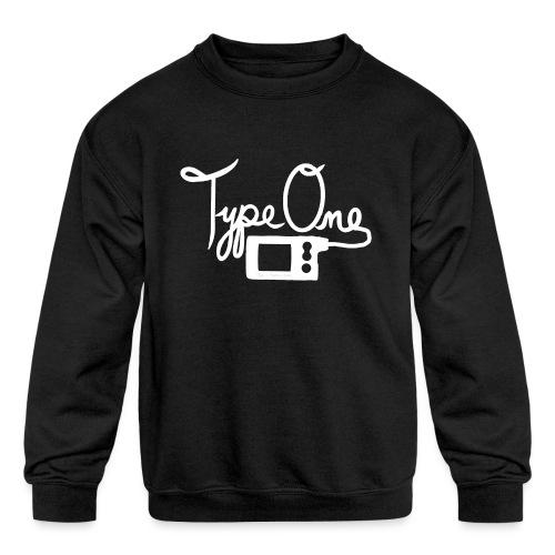 Type One - Insulin Pump 2- White - Kids' Crewneck Sweatshirt
