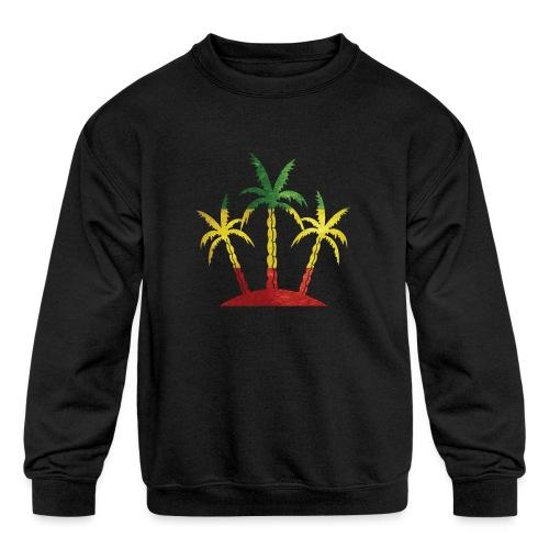 Palm Tree Reggae - Kids' Crewneck Sweatshirt