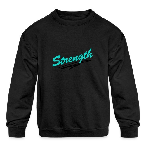 Strength Tank - Kids' Crewneck Sweatshirt