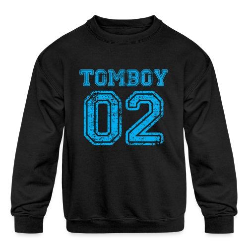 Tomboy02 png - Kids' Crewneck Sweatshirt