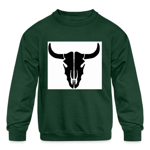 Longhorn skull - Kids' Crewneck Sweatshirt