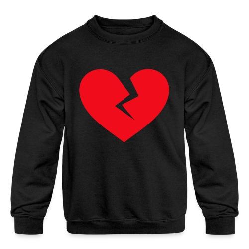 Broken Heart - Kids' Crewneck Sweatshirt