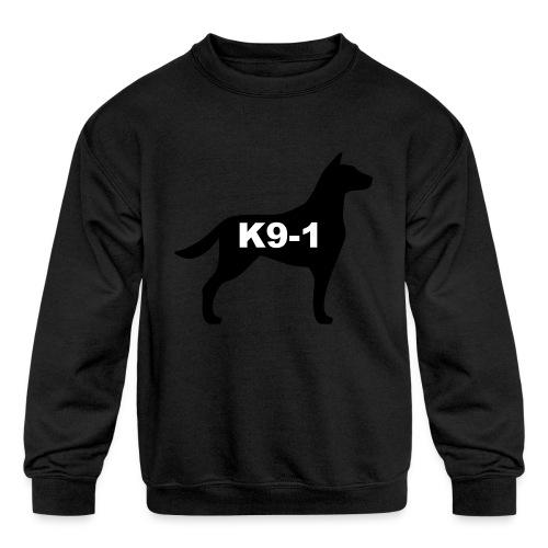 k9-1 Logo Large - Kids' Crewneck Sweatshirt