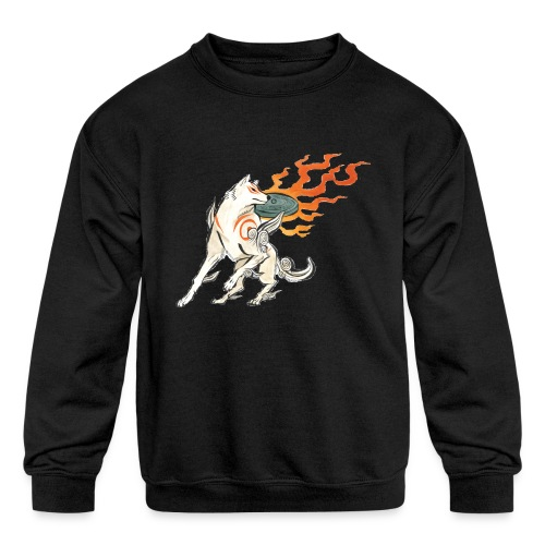 Fire wolf - Kids' Crewneck Sweatshirt