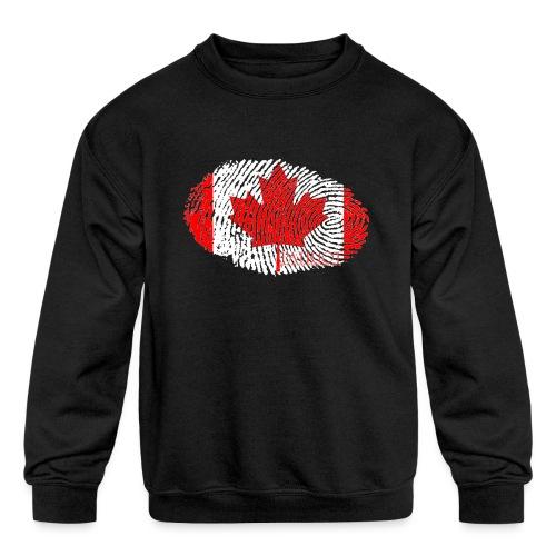 Canadian Identity - Kids' Crewneck Sweatshirt