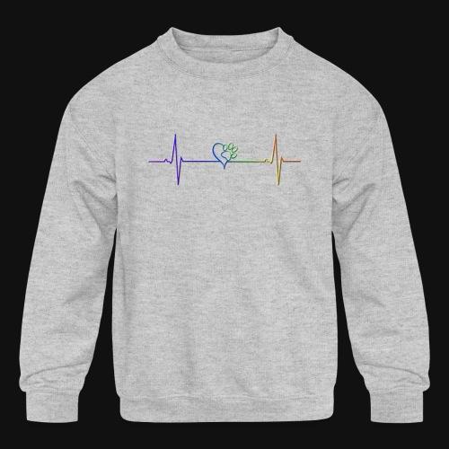 Live & Breathe Dog - Kids' Crewneck Sweatshirt