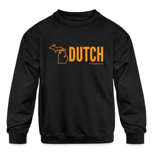 Michigan Dutch (orange) - Kids' Crewneck Sweatshirt